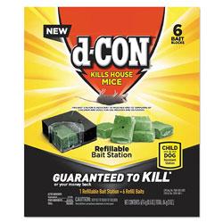 d-Con® Refillable Bait Station and Refills, 1 Bait;6 Refills/Box, 8 Box/Carton