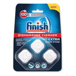 Finish® Dishwasher Cleaner Pouches, Original Scent, Pouch, 3 Tabs/Pack