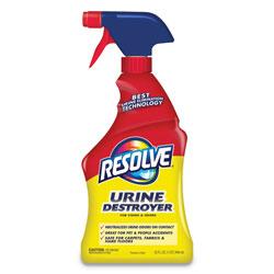 Resolve Urine Destroyer, 32 oz Spray Bottle, Citrus, 6/Carton