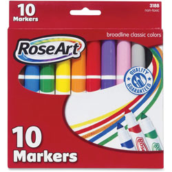 The Board Dudes Classic Markers, Broadline, 10/PK, Assorted