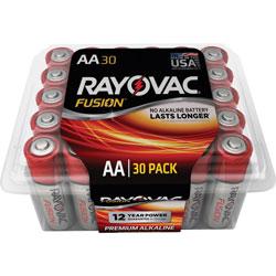 Rayovac Alkaline Batteries, AA Fusion, Pro Pack, 30/PK, RDSR