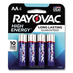 Rayovac High Energy Premium Alkaline AA Batteries, 4/Pack