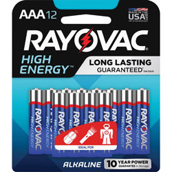 Rayovac Alkaline AAA Carded Batteries, 144/CT