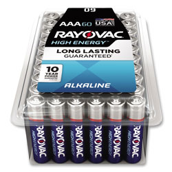 Rayovac Alkaline AAA Batteries, 60/Pack