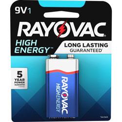 Rayovac Alkaline 9V Battery, Blue/Gray