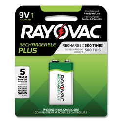 Rayovac Platinum Rechargeable NiMH Batteries, 9V