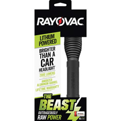 Rayovac Flashlight, 2000 Lumens, Lithium-Powered, Black