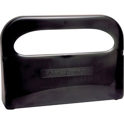 Rochester Midland Toilet Seat Cover Dispenser, 2 Half Fold Sleeve Cap, Smoke Gray