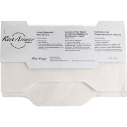 Rochester Midland Toilet Seat Covers, Flushable/Biodegradable, White