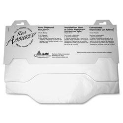 Rochester Midland Toilet Seat Covers, Flushable, 3000/CT, White