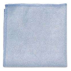 Rubbermaid Microfiber Cleaning Cloths, 12 x 12, Blue, 24/Pack