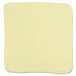Rubbermaid Microfiber Cleaning Cloths, 12 x 12, Yellow, 24/Bag