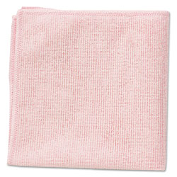 Rubbermaid Microfiber Cleaning Cloths, 16 x 16, Pink, 24/Pack