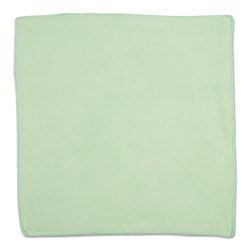 Rubbermaid Microfiber Cleaning Cloths, 16 X 16, Green, 24/Pack