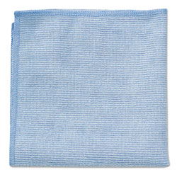 Rubbermaid Microfiber Cleaning Cloths, 16 X 16, Blue, 24/Pack