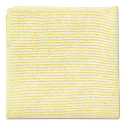 Rubbermaid Microfiber Cleaning Cloths, 16 x 16, Yellow, 24/Pack