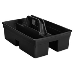 Rubbermaid Executive Carry Caddy, 2-Compartment, Plastic, 10.75w x 6.5h, Black