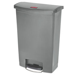 Rubbermaid Slim Jim Resin Step-On Container, Front Step Style, 24 gal, Gray