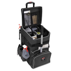 Rubbermaid Executive Quick Cart, Large, 14.25w x 16.5d x 25h, Dark Gray
