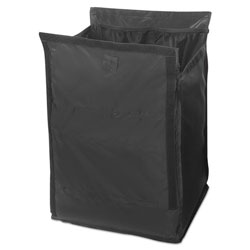 Rubbermaid Executive Quick Cart Liner, 12.8 in x 14.5 in, Black