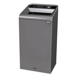 Rubbermaid Configure Indoor Recycling Waste Receptacle, 23 gal, Gray, Landfill