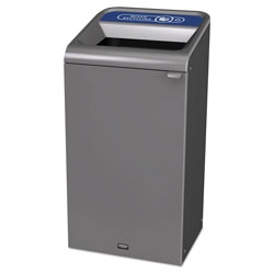 Rubbermaid Configure Indoor Recycling Waste Receptacle, 23 gal, Gray, Mixed Recycling