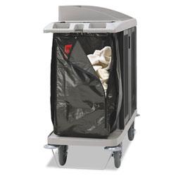 Rubbermaid Zippered Vinyl Cleaning Cart Bag, 25 gal, 17 in x 33 in, Brown