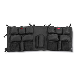 Rubbermaid Slim Jim Caddy Bag, 19 Compartments, 10.25w x 19h, Black
