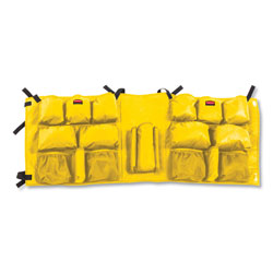 Rubbermaid Slim Jim Caddy Bag, 19 Compartments, 10.25w x 19h, Yellow