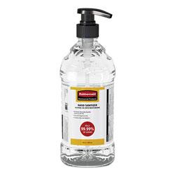 Rubbermaid Table Top Hand Sanitizer, 64 oz Pump Bottle, Unscented, 4/Carton