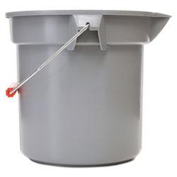 Rubbermaid 14 Quart Round Utility Bucket, 12 in Diameter x 11 1/4 inh, Gray Plastic