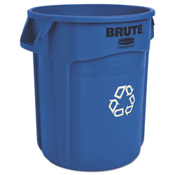 Rubbermaid Brute Recycling Container, Round, 20 gal, Blue