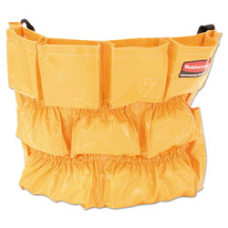 Rubbermaid Brute Caddy Bag, 12 Pockets, Yellow