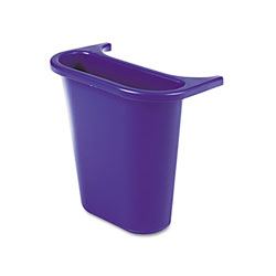 Rubbermaid Wastebasket Recycling Side Bin, Attaches Inside or Outside, 4.75 qt, Blue