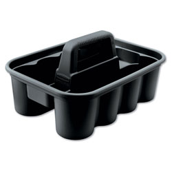Rubbermaid Deluxe Carry Caddy, 8-Compartment, 15w x 7.4h, Black
