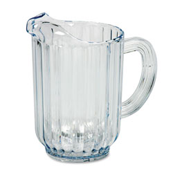 Rubbermaid Bouncer Plastic Pitcher, 60oz, Clear