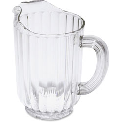 Rubbermaid Plastic Pitcher, Dishwasher Safe, 60 oz., 6/CT, Clear