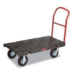 Rubbermaid Heavy-Duty Platform Truck Cart, 1,200 lb Capacity, 24 x 48 Platform, Black