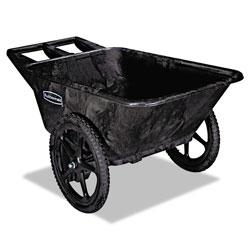 Rubbermaid Big Wheel Agriculture Cart, 300-lb Capacity, 32.75w x 58d x 28.25h, Black