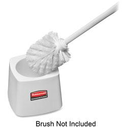 Rubbermaid Toilet Bowl Brush Holder, 5 in Diameter, 24/CT, White