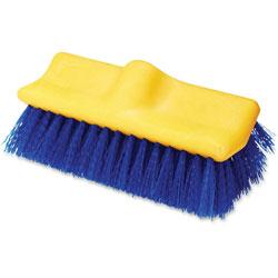 Rubbermaid Floor Scrub Brush, 10 in Long, 6/CT, Blue/Yellow