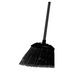 Rubbermaid Lobby Pro Broom, Poly Bristles, 35 in, with Metal Handle, Black