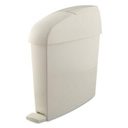 Rubbermaid Sanitary Bin, Rectangular, Plastic, 3 gal, White