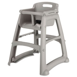 Rubbermaid Sturdy Chair Youth Seat, Platinum Seat/Platinum Back, Platinum Base