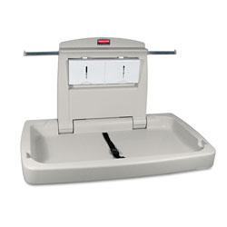 Rubbermaid Sturdy Station 2 Baby Changing Table, 33.5 x 21.5, Platinum
