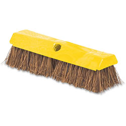 Rubbermaid Deck Brush, 2 in Palmyra Bristles, Plastic Block, 10 inL, Yellow