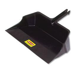Rubbermaid Jumbo Heavy Duty Dustpan, 22 in Wide, Plastic, Black
