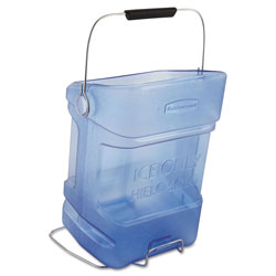 Rubbermaid Ice Tote, 5.5gal, Blue, With Hook Assembly