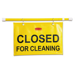 Rubbermaid Site Safety Hanging Sign, 50w x 1d x 13h, Yellow