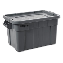 Rubbermaid BRUTE Tote with Lid, 14 gal, 27 1/2w x 16 3/4d x 10 3/4h, Gray